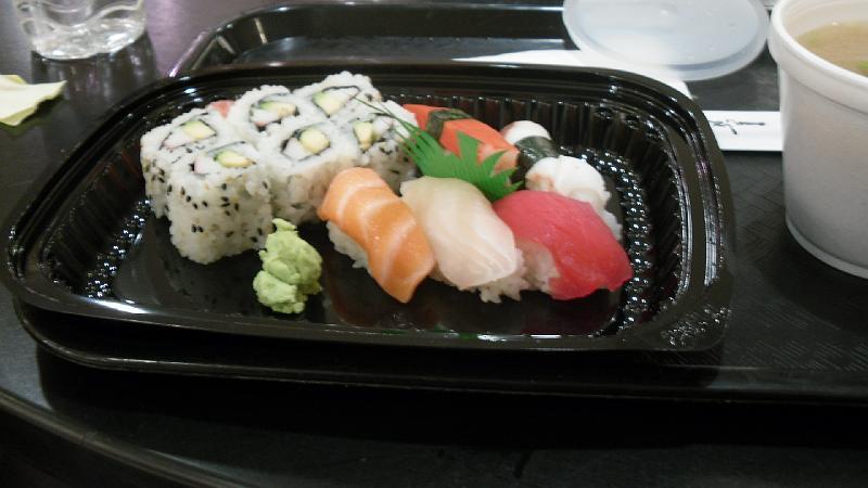 Sushi e zuppa di Miso