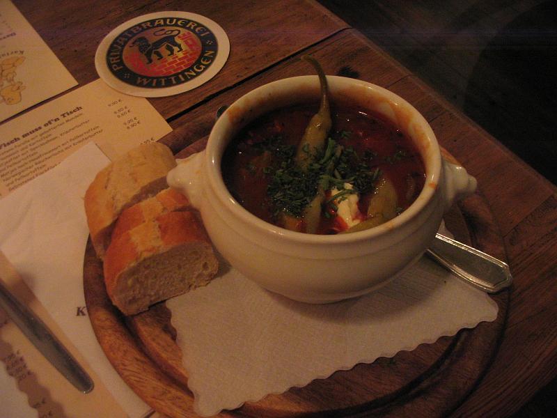 zuppa peperoni e wurstel
