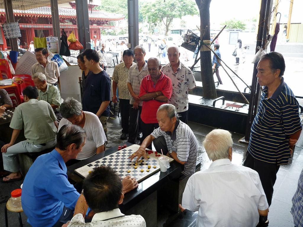 giocatori di dama a Kuala Lumpur