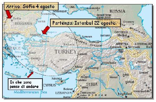 arrivo a Sofia e riparto da Istanbul